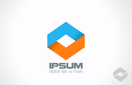 Corporate abstract vector logo design template  Rhombus icon Creative loop infinity symbol