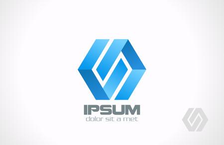 六角形ループ無限リボン ベクトル ロゴ デザイン テンプレート企業の無限アイコン ビジネス創造的な概念