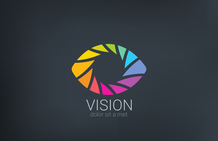 Eye shutter vector logo design template  Photo video shooting concept Creative photography icon  Illusztráció