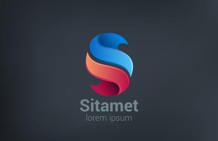 Diseño de logotipo corporativo vector abstracto empresarial. Icono de concepto creativo letra S