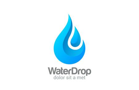 크리 에이 티브 벡터 로고 디자인 템플릿 물방울. 클리어 워터 드롭 개념. 미네랄 아쿠아 상징. 신선한 방울 아이콘. 일러스트