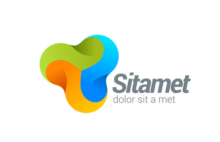 technology logo: Corporate Media vector logo design template.  Business Technology Creative design concept icon. Illustration