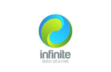 circulaire: Sph�re, Cercle, boucle vecteur infini mod�le de conception de logo. Culture d'entreprise Yin Yang concept cr�atif ic�ne.