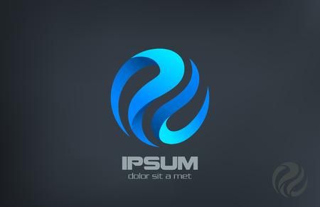 Kula grono abstrakcyjne linie wektora logo szablon. Corporate Business Technology kreatywnych koncepcji ikony. Logo