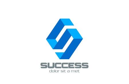 Lettre S ruban modèle abstrait vecteur de conception de logo Rhombus forme de société de technologie Business concept icône