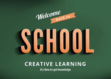 Back to School design typography poster template vintage style. Sale Banner retro. Vector