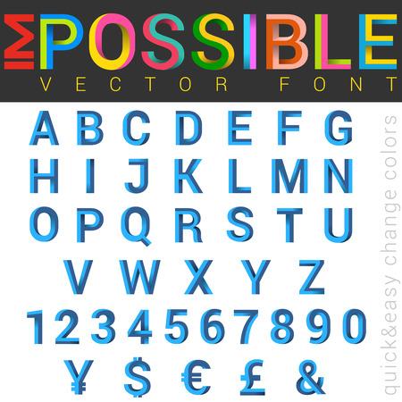 ABC Font impossible letters design.