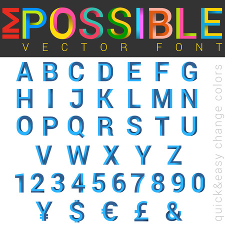 ABC Font impossible letters design.