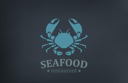 해산물 레스토랑 로고 벡터 디자인 서식 파일. 게 로고 타입 빈티지 스타일 아이콘입니다. 스톡 콘텐츠 - 31050196