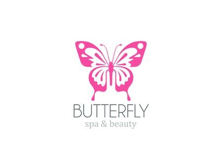 Butterfly Logo vector design template.  Spa Beauty salon Logotype. Concept icon.