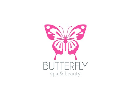 butterfly logo: Butterfly Logo vector design template.   Spa Beauty salon Logotype. Concept icon.