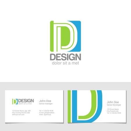 Corporate D Letter company vector design template. Çizim