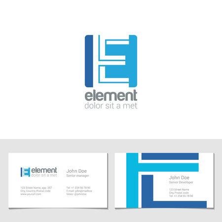 e business: Corporate E Letter company vector design template. Illustration