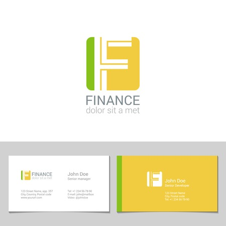 business cards: Corporate F Letter company vector design template.