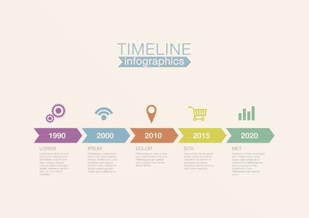 Timeline Infographics vector design template for financial reports, website, blog, infographic statistics. Editable. Vector