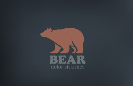 Bear design template. Vector