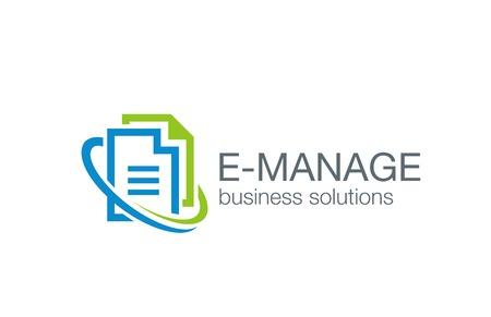 documents circulation: Business management design template.