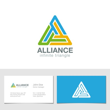 Triangle business technology abstract design template. Vector