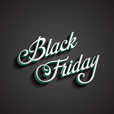 Black Friday type calligraphic typography. Sale Discount Calligraphy element classic vintage retro style design. Vector