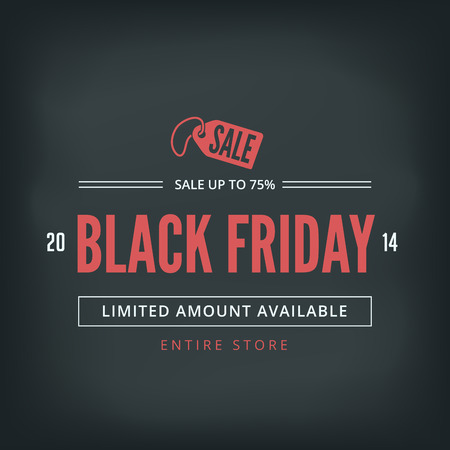 Black Friday Sale Poster design Typography template Retro style. Illustration