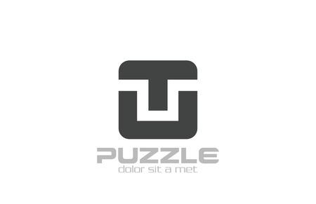 Recuadro Rompecabezas Abstracto Programación Cubo Plantilla De ...