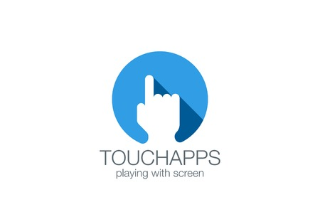 Finger Touch Screen applications technology design vector template.