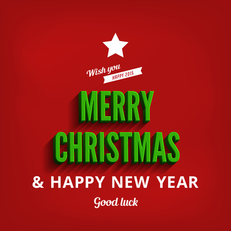 merry christmas happy new year greeting card vector design template holidays typography as christmas