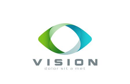 ojo humano: Logo Ojo visi�n dise�o abstracto plantilla vectorial. Tecnolog�a de Negocios de usos m�ltiples icono concepto de logotipo.