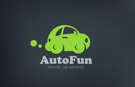 auto service: Logo car retro funny design vector template.  Auto repair services Logotype. Vintage Vehicle silhouette icon.