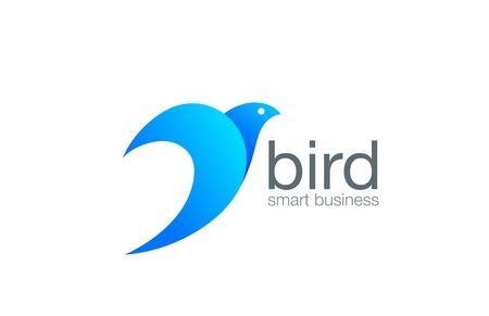 Bird Logo abstract design vector template. Business success logotype concept icon.