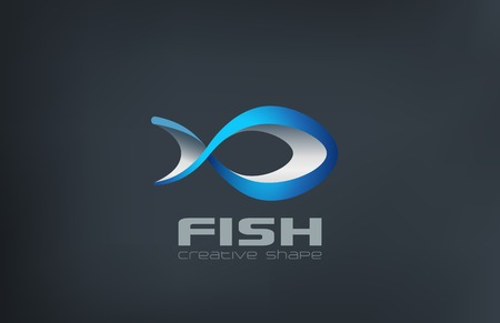salmon fish: Fish Logo abstract design vector template.  Logotype seafood icon for market, restaurant, fishing club etc.