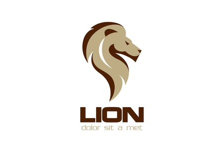 Lion Logo template vecteur de conception. Banque d'images - 45457251