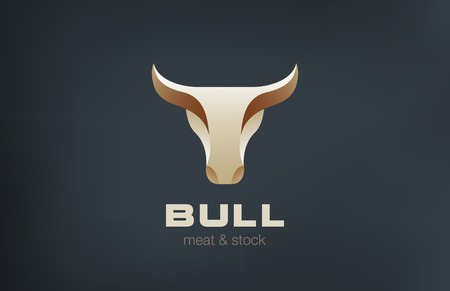 Bull Head Logo design vector template.  Stylish Taurus Emblem Logotype