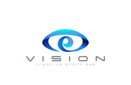 Eye Logo abstract design vector template.  Creative vision logotype for optic, photography, video, technology, search etc.