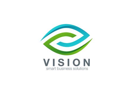 Logo des yeux conception abstraite de modèle vecteur. Business Technology vision logotype de l'icône. Concept clinique. Banque d'images - 45458126