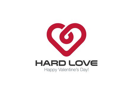 Hart Logo vector design template. Oneindige Liefde concept. Infinity gezond hart Cardiologie idee Logotype. Stock Illustratie