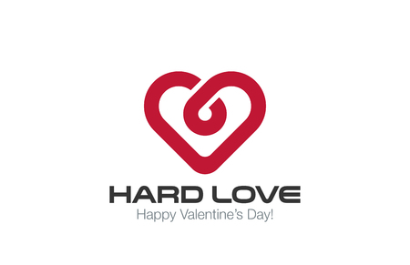 Heart Logo vector design template. Infinite Love concept. Infinity Healthy Heart Cardiology idea Logotype. Illustration