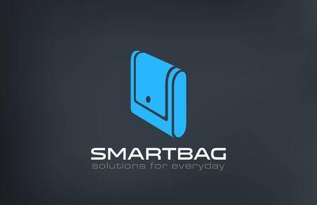 Bag Logo design vector template. Creative portfolio logotype.