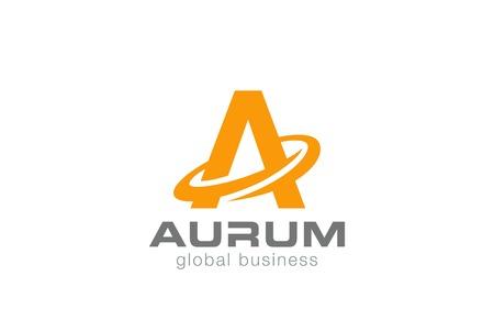logos de empresas: Letra A del logotipo de plantilla de diseño vectorial. Un icono de carácter concepto de logo.