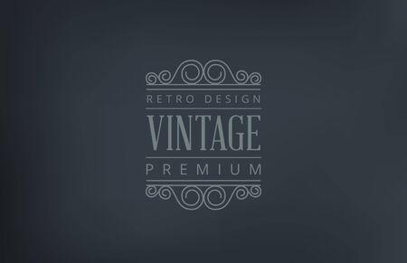 Text Vintage Logo design vector template. Retro style logotype. 向量圖像