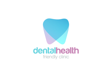 dent: Dent Logo design vector template.  Dental clinic Logotype concept icon.