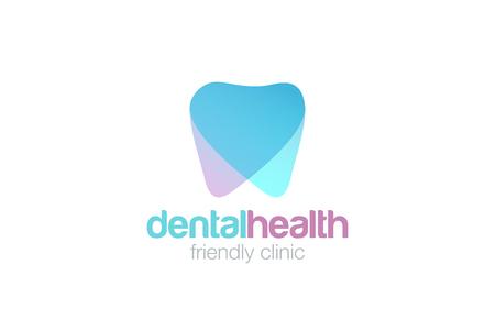 Dent Logo design vector template. Dental clinic Logotype concept icon.