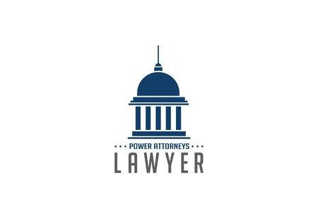 변호사 로고 기호 추상 디자인 벡터 템플릿입니다. 법률 법률 변호사 로고 타입 개념 아이콘. 교육 기호입니다. 일러스트