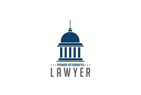 Lawyer Logo symbol abstract design vector template.   Legal Law Attorneys Logotype concept icon. Education symbol. Иллюстрация
