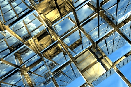 Cubic space Stock Photo