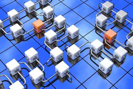 3D rendered illustration of cubes Stock Illustration - 14113860