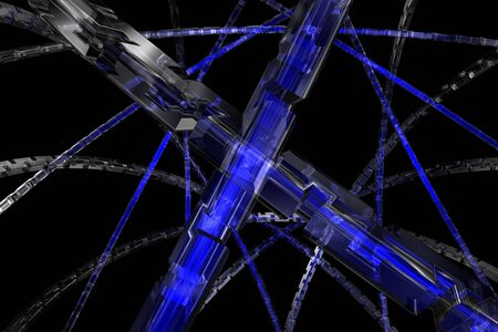 Abstract 3D cog wheel available for background Stock Photo