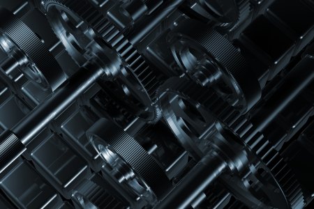 Detail of steel gear wheels awailable for background