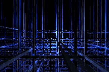perspectiva lineal: El futuro del espacio de color azul oscuro para el fondo
