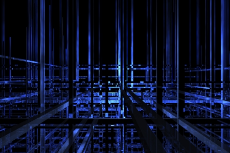 Futuristic dark blue space available for background Stock Photo - 14203045